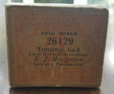 Aeolian Song Roll Full Scale 26129 Tommy Lad E J. Margetson E. Teschemacher