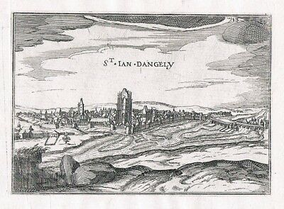 1660 - Saint-Jean-d'Angely Poictou Charente-Maritime Kupferstich Tassin