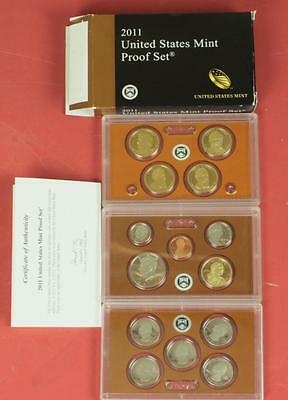 2011 United States Mint Proof Set 14 Coins 3 Slabs in Orig Box w/specs+COA