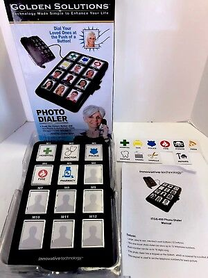 Photo Dialer Picture Phone Assistant Large Buttons Golden Solutions ITGS-450