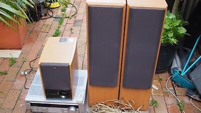 Jvc Complete Hifi System Amp Rx-5022 / Speakers Sx-F300Wd/ Subwoofer Sp-Pw105Wd