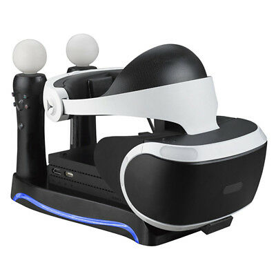 Charging Dock Charger Station Stand Holder For PS4 VR II PS Move Game Control Eo