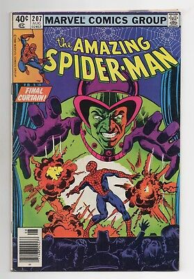 Amazing Spider-Man Vol 1 No 207 Aug 1980 (FN) (6.0) Marvel, Bronze Age