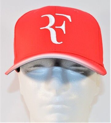 Nike Court RF Roger Federer Aerobill Red   White Tennis Hat Cap NEW 868579  660 630048ace44