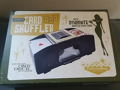 WEMBLEY casino and lounge automatic card shuffler with one deck of cards!
