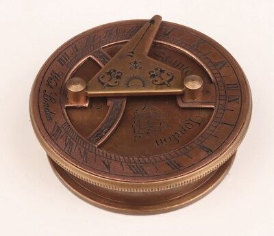 Priceless Private London'S Bronze Compass Statue Old Decoration Collection