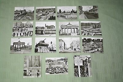 BERLIN Vintage Photo Postcards Lot Of 15 Black And White Great Shape See Pics !!