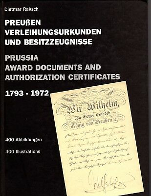 Prussia - Award Documents & Certificates - 1793-1972 - Important Reference Work