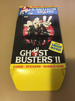 Ghostbusters II - EMPTY MARKED CARD BOX - NO PACKS - SHIPPED FLAT - Topps