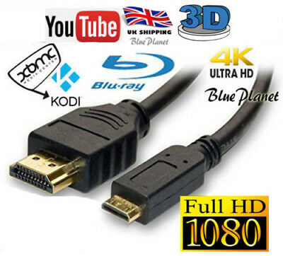 Hdmi To Mini Hdmi Cable Lead For Sony Panasonic Samsung Jvc Camera Camcorder