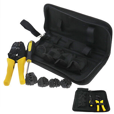 Insulated Cable Connectors Terminal Ratchet Crimping Wire Crimper Plier Tool