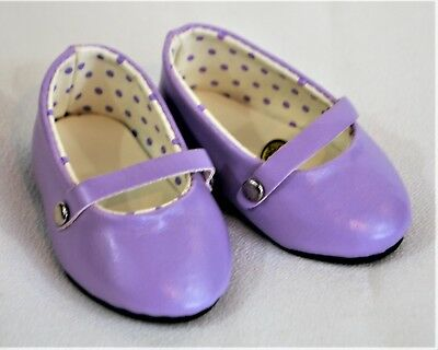 Shoes Dressy Lavender Straps for 18 in American Girl Doll Accessories Clothes