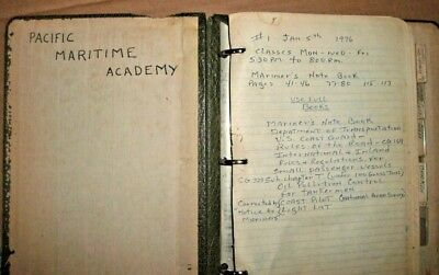 Vintage Pacific Maritime Academy Mariner's Note Book 1976