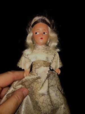 Vintage Christmas Tree Topper Angel Composition Head  30's 40's