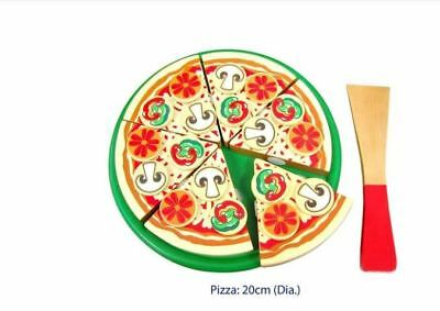 Brand New Viga Wooden Pizza With Topping Pretend Play Toy Food Role Play