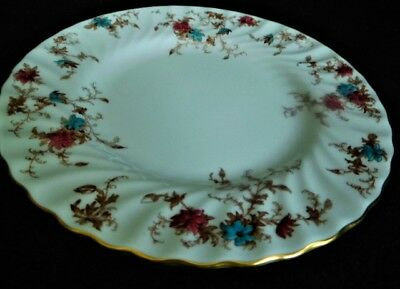 Minton Ancestral  Salad Plates Turquoise rose (set of 4)