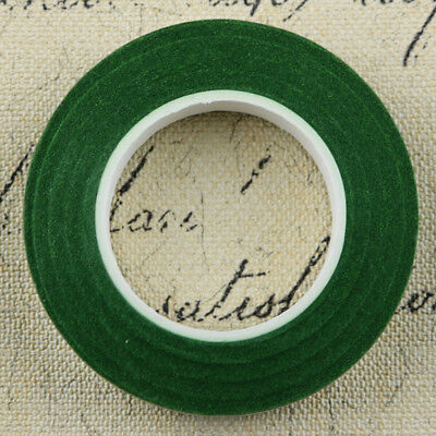 12pcs Elastic Wrap Florist Stem Tape Wire Floral Resealable Tape Dark Green