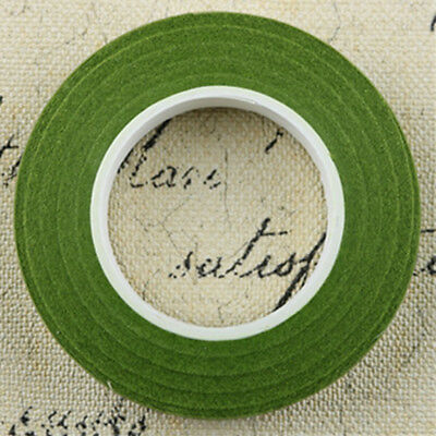 12pcs Elastic Wrap Florist Stem Tape Wire Floral Resealable Tape Olive Green