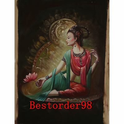 "Hand-painted Oil Painting On Canvas - Dunhuang Maid  36""x24"" dyh015"