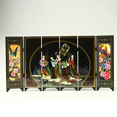 China Lacquerware Handwork Imperial Concubine Dinner Party Screen R3011+b