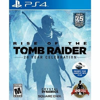 PS4 video game: Rise of the Tomb Raider: 20 Year Celebration - MINT - COMPLETE