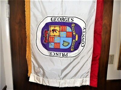 Prince George's County Maryland Flag - 52 Inches x 68 Inches - Used -Dry Cleaned