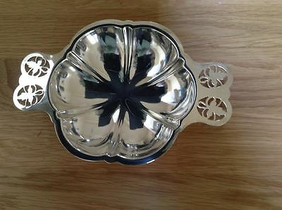 Silver plated EPNS Hexagonal design with frosted glass liner 18cm x 13cm vintage