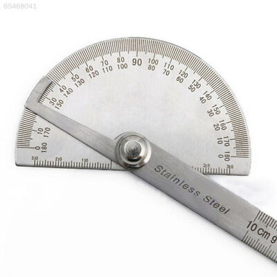E49C Metal 180 Degree Protractor Angle Finder Arm Measuring Ruler Machinist