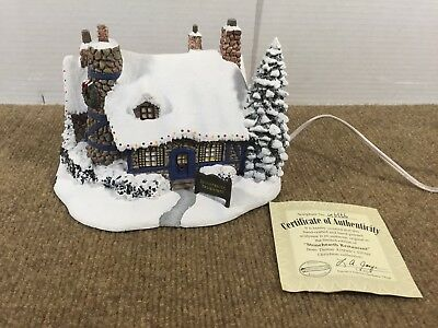 Thomas Kinkade Hawthorne Village Stonehearth Restaurant with Certificate