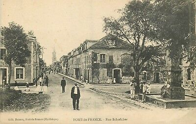 MARTINIQUE FORT DE FRANCE rue schoelcher
