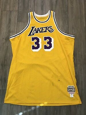 release date: 493a0 a283f VINTAGE MITCHELL & Ness La Lakers Kareem Abdul Jabbar 1979-80 Throwback  Jersey