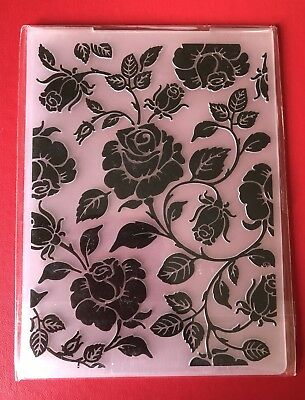 REDUCED• ROSE VINES Embossing Folder Sizzix or Cuttlebug