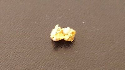 One Brilliant Sparkling Clean Australian Gold Nugget Total Weight 0.095 Grams