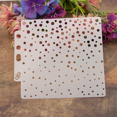 13cm Full Dot Layering Stencils Wall Painting Scrapbooking Embossing Template