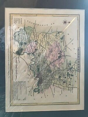 Genuine antique map Middlesex by Cole & Roper 1807