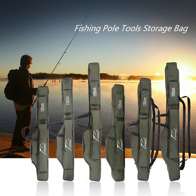 Portable Fish Rod Carrier Canvas Pole Tools Storage Tackle Bag Case HOT F0O3