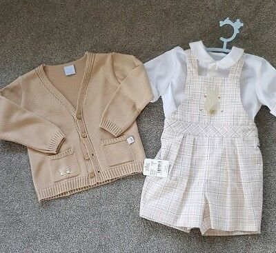 Emily rabbit boys suit with matching cardigan