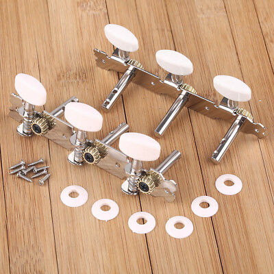 2pcs New Silver Tone Classical Guitar Tuner Tuning Keys Pegs Machine Heads Beige