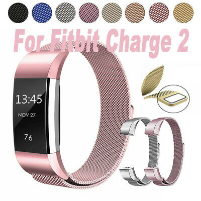 For Fitbit Charge 2 Strap Replacement Milanese Band Stainless Steel Magnet UK