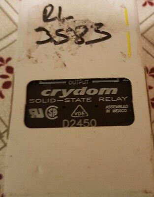 CRYDOM D2450 Solid State Relay, SPST-NO, 50 A, 280 VAC, Panel, Screw,