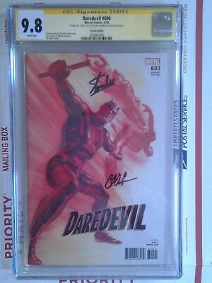 DAREDEVIL #600 1:50 ALEX ROSS VARIANT EDITION CGC SS 9.8 2xSIGNED STAN LEE SOULE