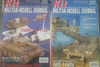 2 Kit Revell militär modell journal