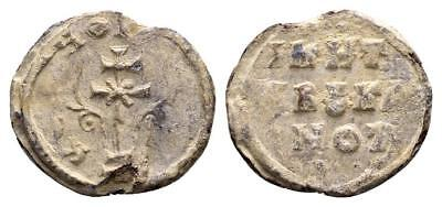 BYZANTINE LEAD SEAL/ BLEISIEGEL OF NIKETAS KOYBOYKLEISIOS AND NOTARIOS (10th c.)