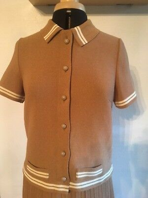 Genuine Vintage 60s Mod Two Piece Suit Fawn