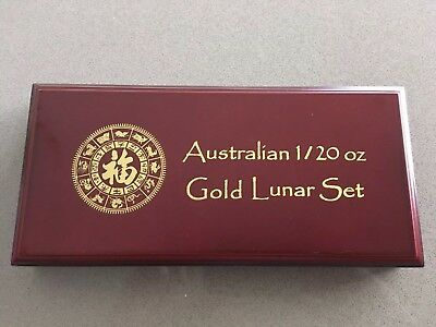 Wooden Box for Australia 1/20 Oz Gold Lunar Series Box Only No Coins Perth Mint