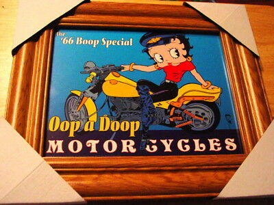 WOOD COLOR FRAME BETTY BOOP 11X13 MDF FRAMED PICTURE #1