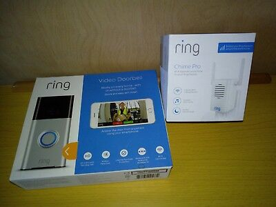 Ring Video Doorbell Motion 720HD Video 2-Way Talk Security Camera with Chime Pro