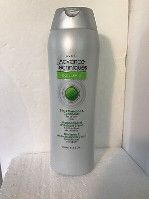 Avon ~Advance Techniques Daily Shine 2 In 1 Shampoo & Conditioner 11.8 oz NEW