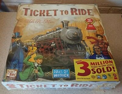 TICKET TO RIDE Origin Edition Family Board Game *BRAND NEW & SEALED*