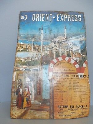Plaque /tole Metal Wagons Lits Sncf Orient Express Paris Vienne Constantinople